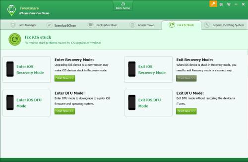 Tenorshare iPhone Care Pro - Fix iOS Stuck