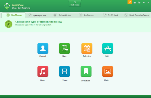 Tenorshare iPhone Care Pro Free Files Manager