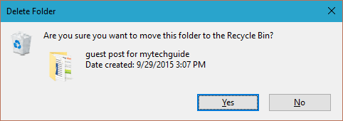 Delete Confirmation Dialog in Action