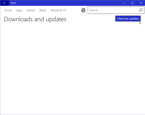 Manually Check for Updates for Windows 10 Apps