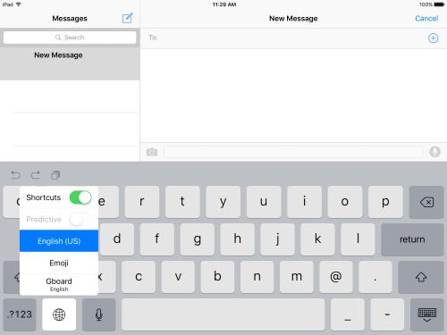 Switch to Gboard Keyboard