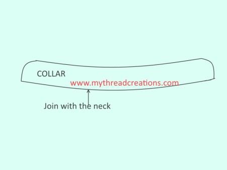 collar cutting and sewng