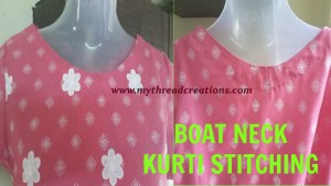 Simple Way Of Boat Neck Cutting and Stitching
