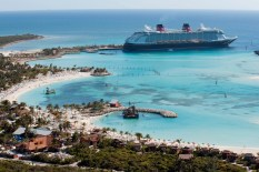 Disney, docked at Castaway Cay