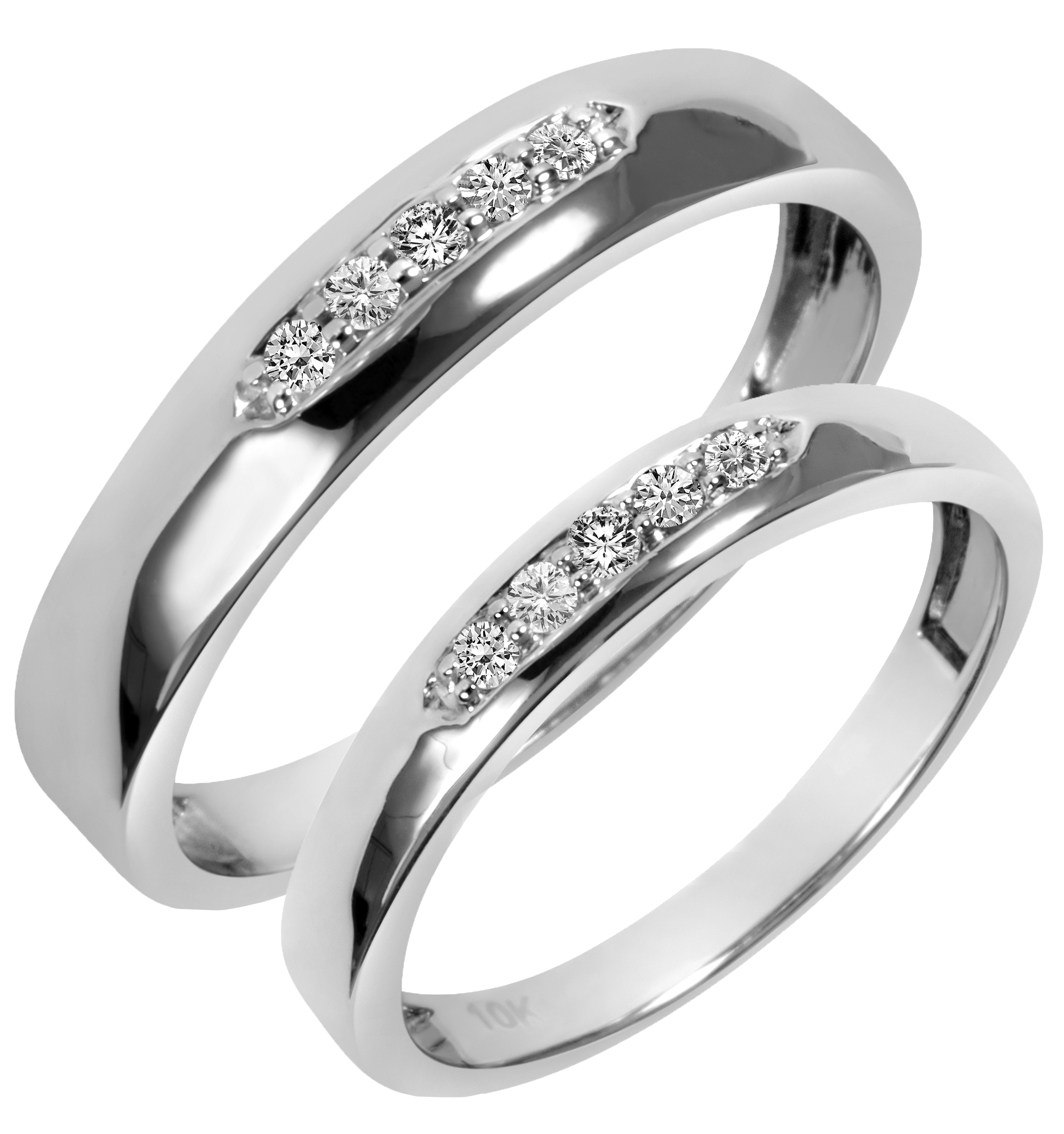 white gold wedding band Details about diamond 20 carat 3 ring 10K white gold wedding band set cross Christian bridal