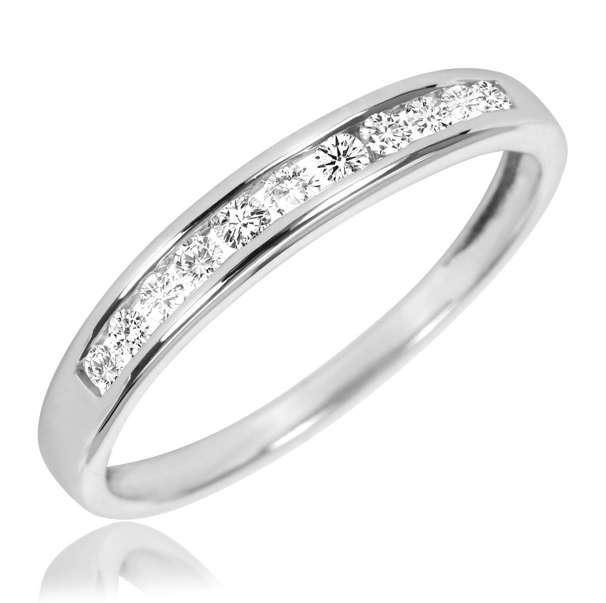 ladies 18k white gold diamonds eternity wedding band ring white gold wedding band Ladies 18k White Gold Diamonds Eternity Wedding Band Ring Home Wedding Bands Ladies 18k White Gold Diamonds Eternity Wedding Band Ring