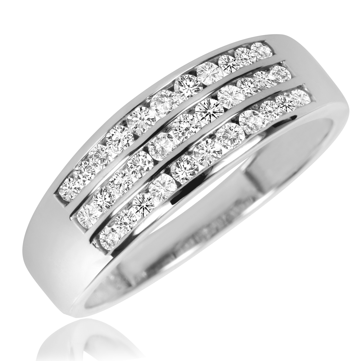 mens wedding band in 10kt white gold white gold wedding band Men s Wedding Band in 10kt White Gold
