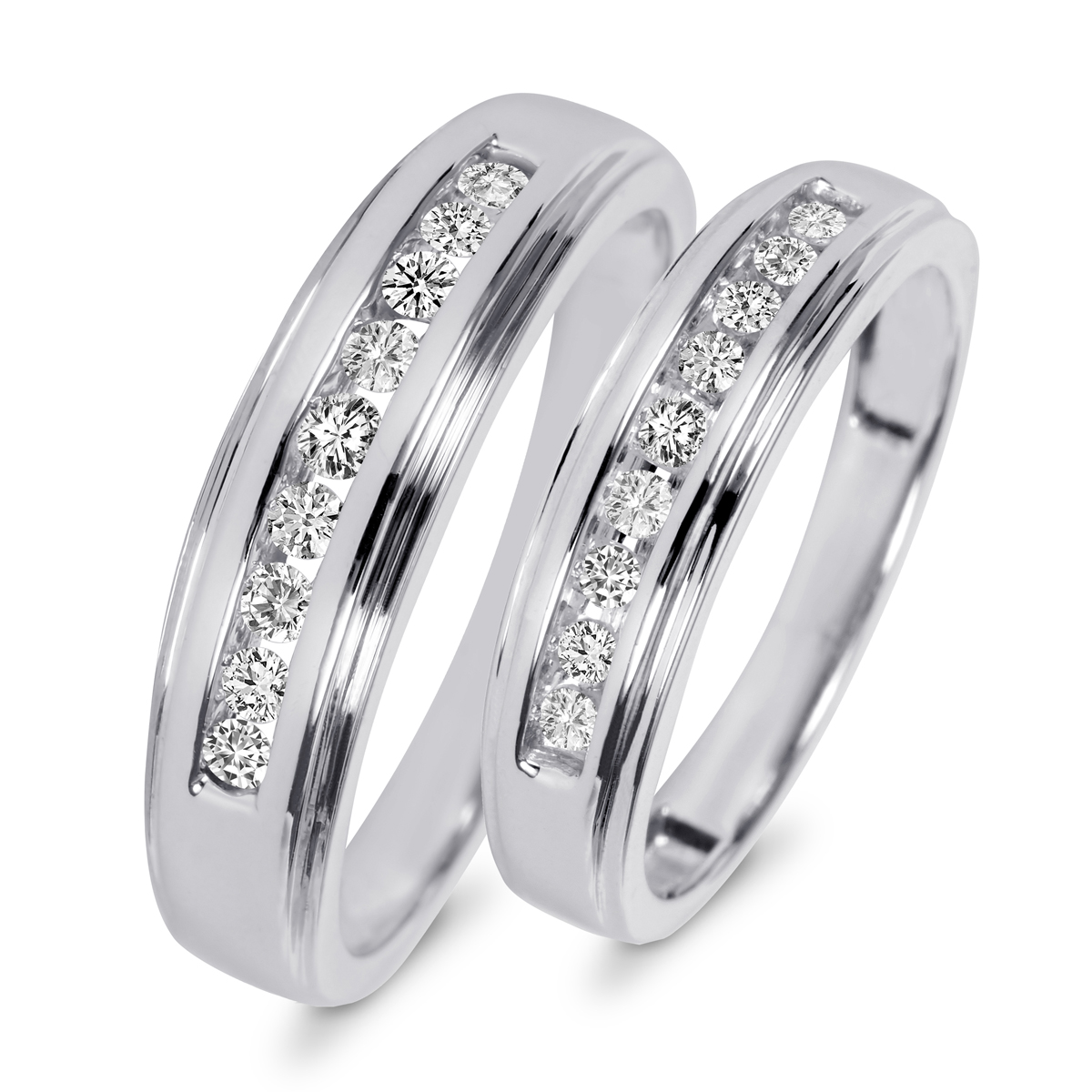 ladies 18k white gold diamonds oval eternity wedding band white gold wedding bands White Gold Diamonds Round Oval Eternity Wedding Band 00 Previous Next
