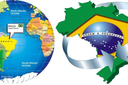 Map of the world showing brazil where is zil on world map sciox Images