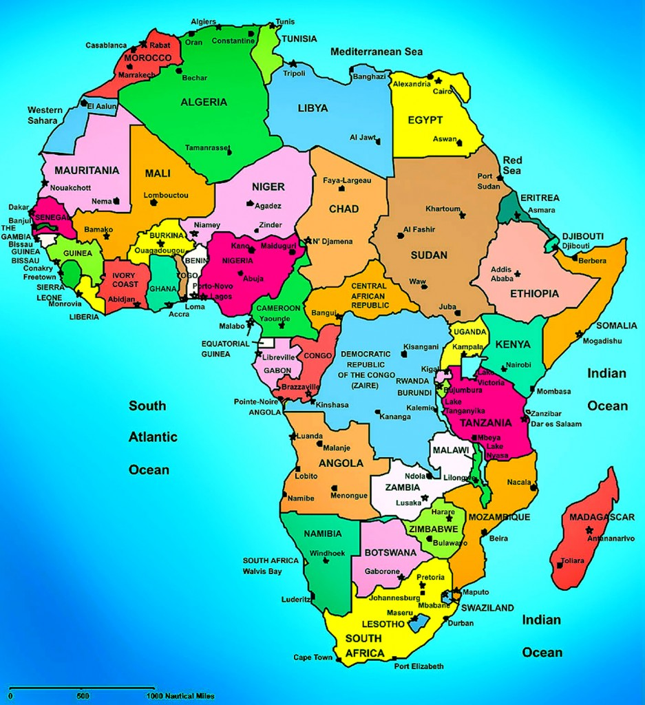 map of african country