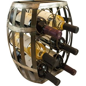 Barrel Shaped 6 Bottle Wine Rack