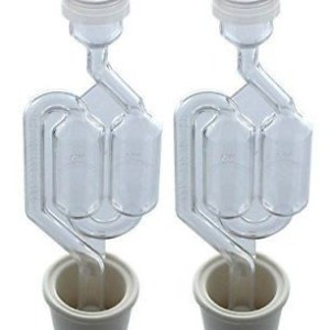 Twin Bubble Airlock Universal Carboy Bung Pack Home Wine Making Supplies 2 Pack