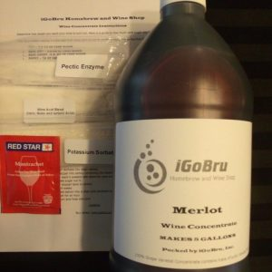 Winemaking Kit, 100% Varietal Grape Concentrates Merlot