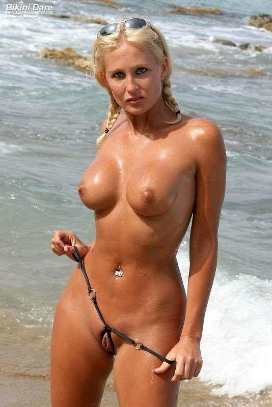 Mature blonde in g string bikini have hit