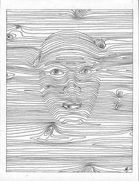 Zeichnungholzgesicht