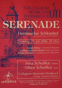 Einladung zur Serenade im Schlosshof