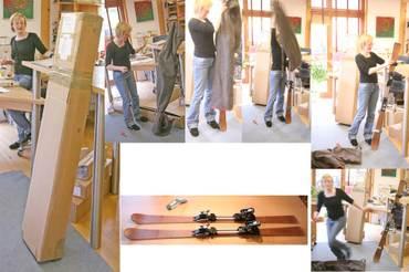 Holzski von Zweydingers endlich in Ausstellung angekommen