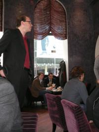herwig Danzer referiert beim Social Web Breakfast in München