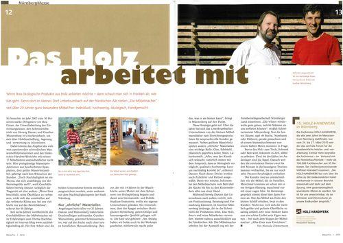 Magazin der NürnbergMesse: Das Holz arbeitet mit