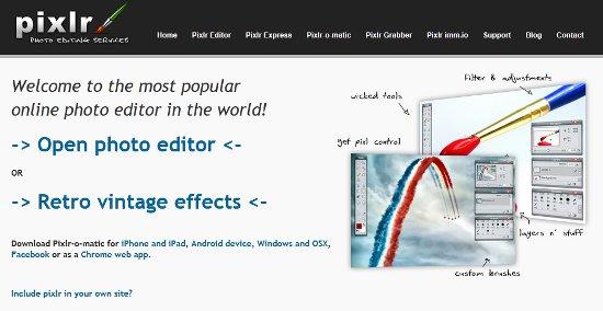 pixlr editor de fotos e imagenes online, photoshop online