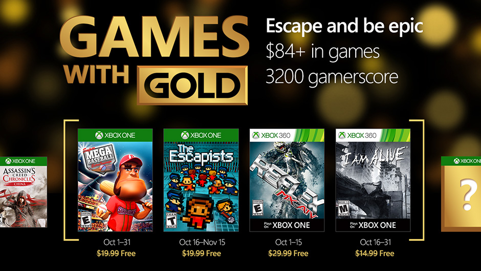 Games with gold octubre 2016