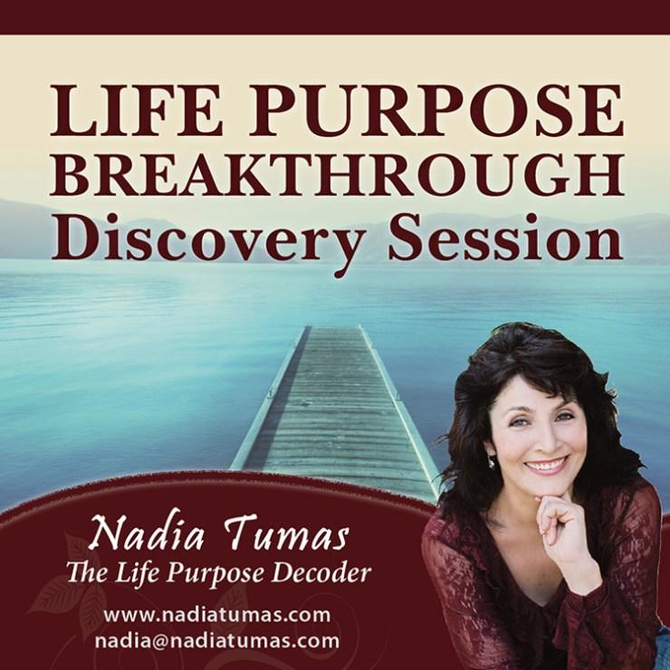 Nadia Tumas Life Purpose Breakthrough Session