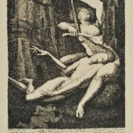 エルンスト・フックス「サムソンとデリラ:サムソンの髪を切るデリラ」1967年/エッチング/132000円