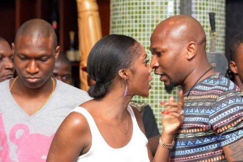 TIWA 6 500x334 Tee Billz Can't Resist Tiwa Even In The Public, Check Out Pictures From Industry Night with Jimmy Jatt