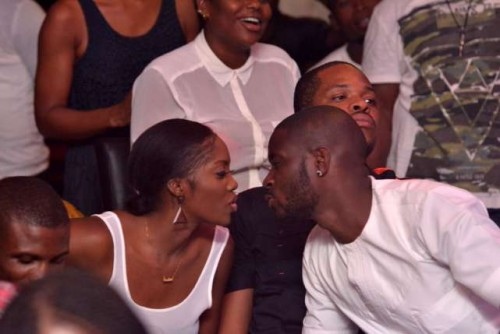 tiwa 500x334 Tee Billz Can't Resist Tiwa Even In The Public, Check Out Pictures From Industry Night with Jimmy Jatt