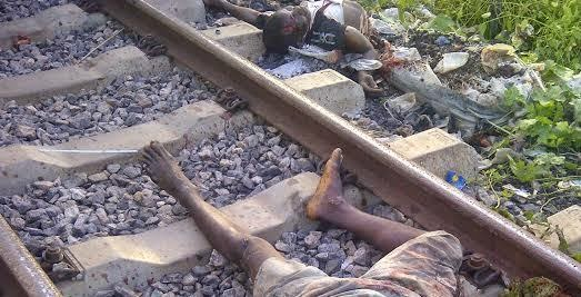 CUT NL2 HORRIBLE: Man Cut Into Pieces At Railway Crossing Line In Ibadan [Viewer  Discretion]