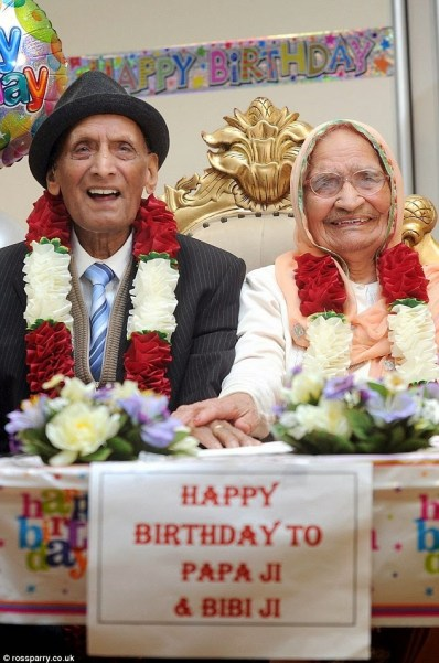 WOW!!! World's Oldest Married Couple With Combined Age Of 211 Celebrate Their Birthdays On The Same Day
