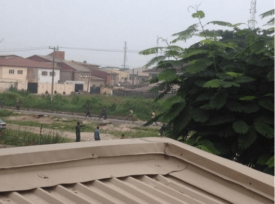 Riot In Lekki Lagos Between Okada Riders, Thugs And Police [See Photos]