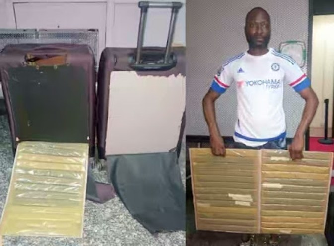 UNBELIEVABLE!!!! YOU WONT BELIEVE WHERE THIS MAN HID DRUGS WORTH N31M (PHOTOS)