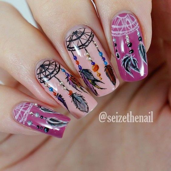 33 Ideas with Dream Catcher Nail Art advise