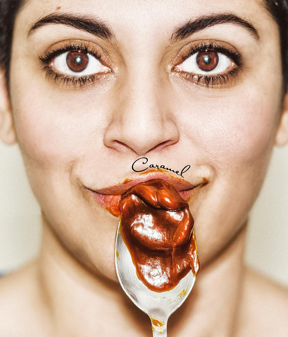 Caramel. Advertising. Self-Portrait. Nigella Lawson & Stylist Magazine. Photography by professional Indian lifestyle photographer Naina Redhu of Naina.co