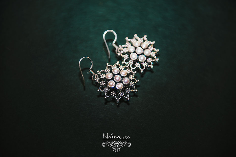 Jewelry / Jewellery, Favorite Earrings in silver and pearls. Photography by photographer Naina Redhu of Naina.co