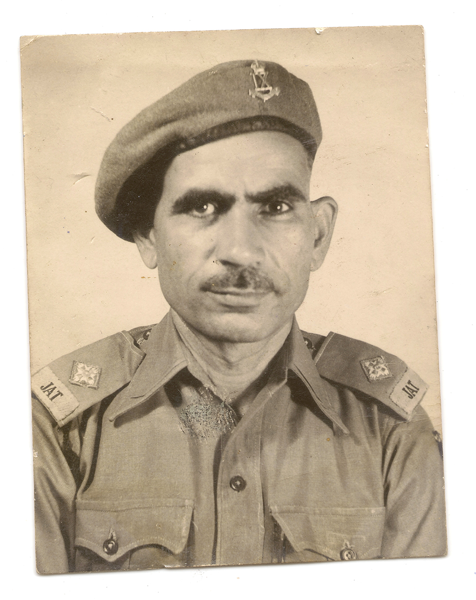Major Ranbir Singh 1940's portrait restoration and re-printing photography project. Photographer Naina Redhu