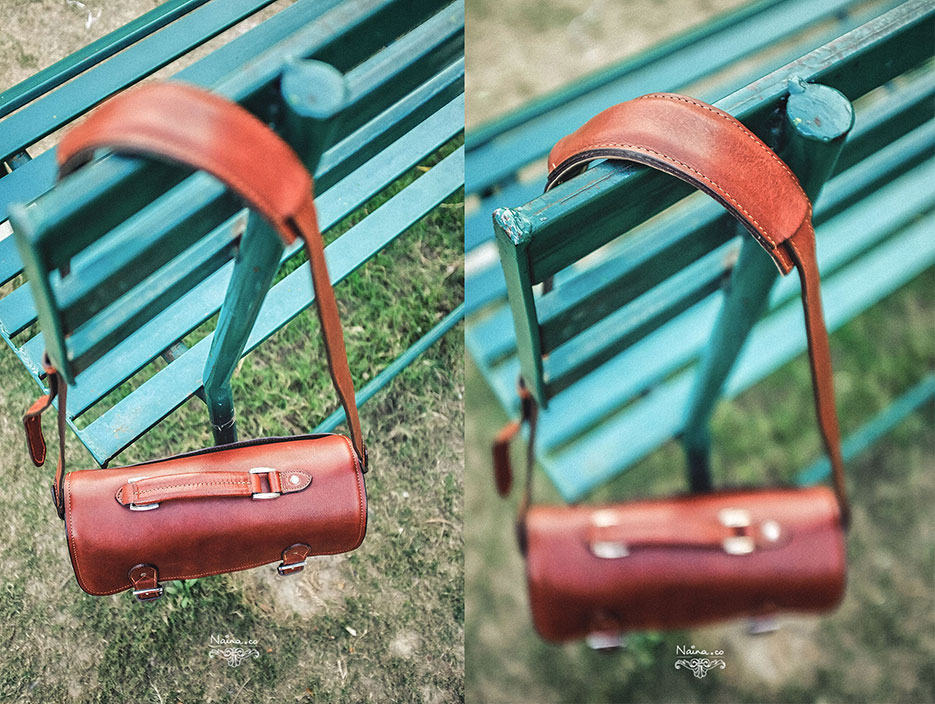 ONA Bags, Brooklyn Camera Bag in Leather Chestnut, photographed by Lifestyle photographer, blogger Naina Redhu of Naina.co