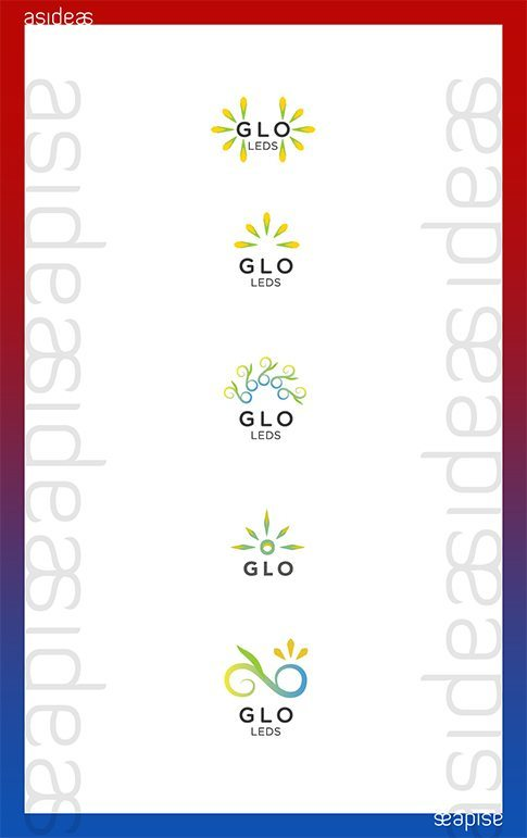 GLO CFL LED Lighting Fixtures India Branding Visual Identity Logo Design Naina.co aside asidebrands