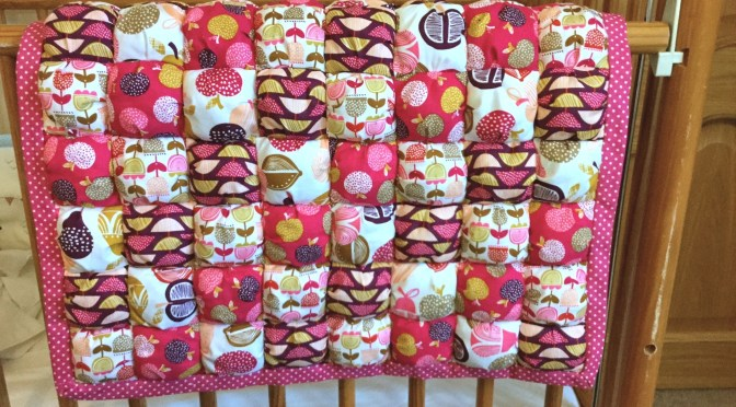 Retro Orchard Puff Quilt