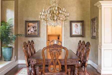 elegant dining area interior design dallas