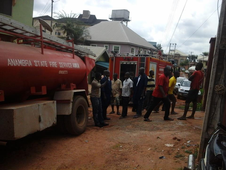 UNIZIK Students Hostel Gutted by Fire in Awka. Mynaijainfo.com