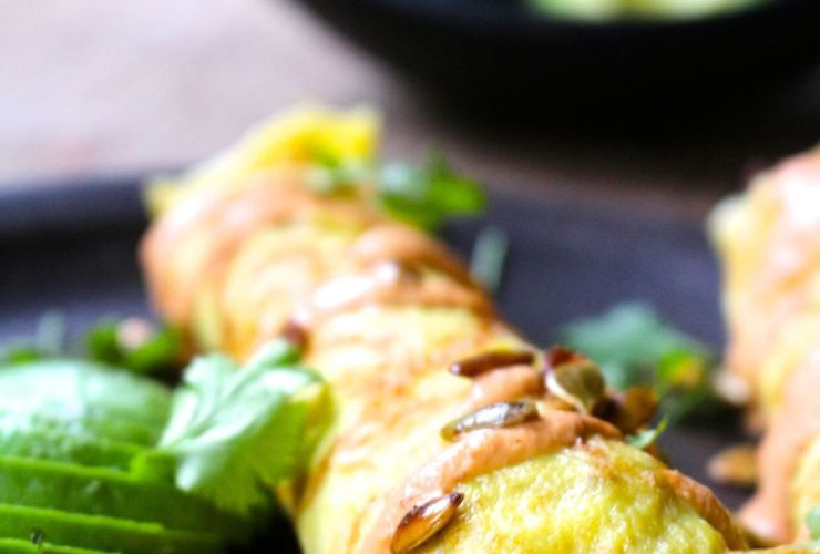 Spicy Beef Taquitos with Chipotle Lime Cashew Cream