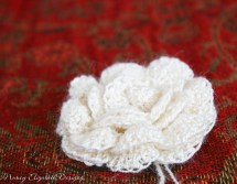 Whisper silk crochet flower custom-0356