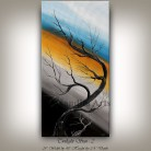 Large Abstract Twilight Sun Painting