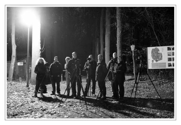 De deelnemers van de eerste workshop nachtfotografie (foto met toestemming van Liesbeth)