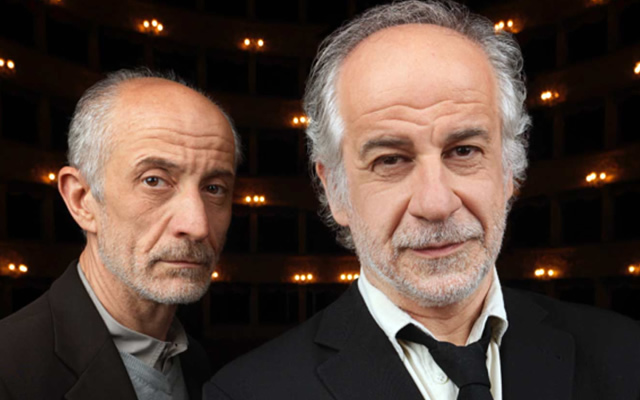 Peppe e Toni Servillo in scena con La Parola Canta al Teatro Bellini