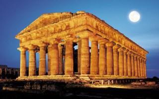 Musica di notte ai Templi di Paestum