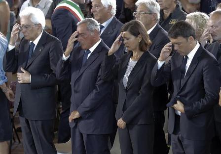 Sisma, il giorno dei funerali con Mattarella e Renzi
