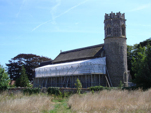 Temporary Roof at Potter Heigham Church